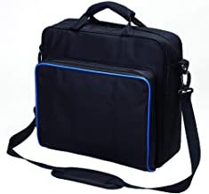 New Travel Storage Carry Case Protective Shoulder Bag Handbag for PlayStation PS4, PS4 Pro and PS4 Slim System Console Carrying Bag and Accessories #81050 (black-large)