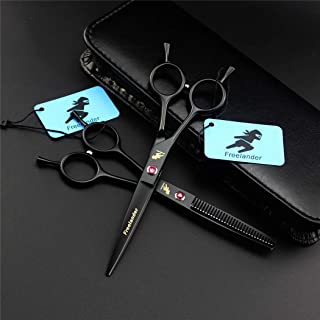 Professional Hair Snijden Schaar 6,0 Inch Japan Stainless Steel Black Set, Lichtgewicht En Hoge Kwaliteit Met Haarscherpe ...