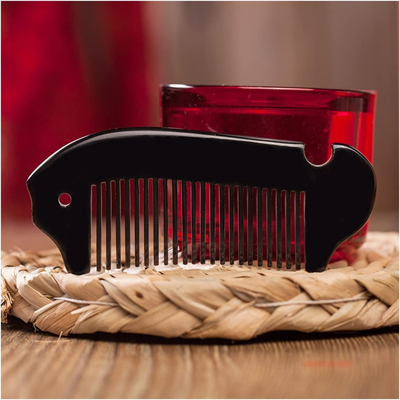 HEMOTONE Natural Horn outlet Hair Comb- with Sacramento Mall Explo Handcraft Decoration
