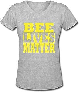 BEE Lives Matter Women's Short Sleeve Casual V-Neck T-Shirt