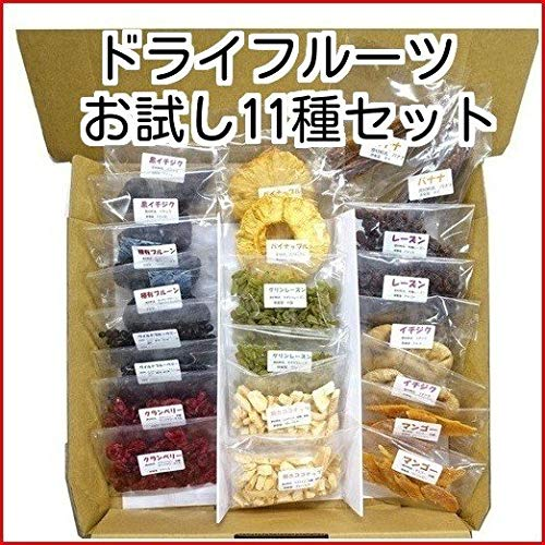 こだわりドライフルーツお試しセット 保存料無添加 11種類 イチジク パイナップル レーズン マンゴー クランベリー プルーン ワイルドブルーベリー バナナ