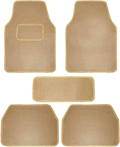 Carigiri Beige Universal Fit Carpet Floor Car Mats for Universal