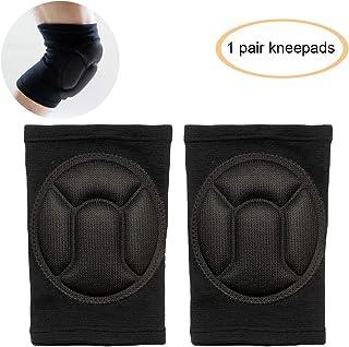 GXBTOP 高*防碰撞海绵护膝,滑雪 | 健身 | 滑冰 | BMX 膝垫,针织保暖护膝。