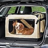 "TecTake Faltbare Hundetransportbox Transportbox beige 69x50x52cm ""L"" - 2"