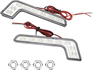 EBTOOLS Feu diurne de voiture, lumière de jour super-lumineuse à 8 LED, imperméable universelle DRL