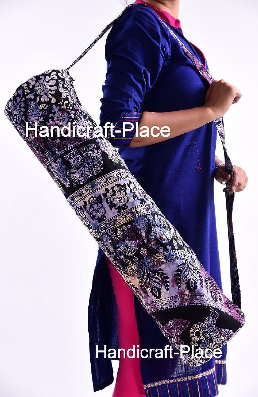 Indian Handmade Mandala Bohemian Yoga Mat Bag Fitness Mat Carrier Cotton Gym Bag