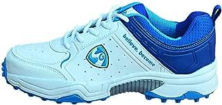 SG Club 3.0 White/Blue Lime Cricket Shoes (UK 10)