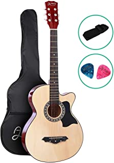 38 Inch Acoustic Guitar Wooden with Carry Bag ALPHA - Natural