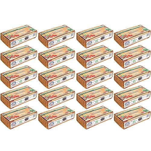 Humusziegel - 180 L Aussaaterde - 20 x 600 g - Blumenerde aus Kokosfaser - natürlich & torffrei - geeignet als Palmenerde, Erde für Zimmerpflanzen, Chili Erde, Pflanzenerde