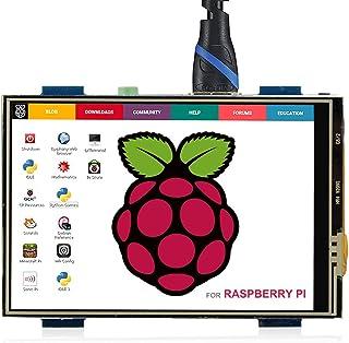 ELECROW 3.5インチ モバイルモニター Raspberry Pi用 3.5インチ モニター タッチパネルモニター HDMI LCD ディスプレイ ポータブルモニター 480*320 小型液晶モニター Raspberry Pi 4B 3B...