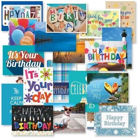 Mega Birthday Greeting Card Value Pack - Manufacturer OFFicial shop Designs Set 40 Ranking TOP19 20 of
