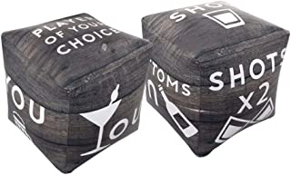 Wembley Giant Inflatable Dice Adult Drinking Game, Set of 2, 10 Inches