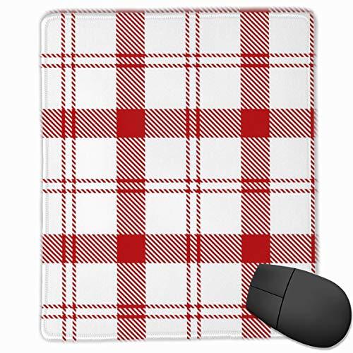 YGVDSE Rubber Mousepad Red White Tartan Plaid Scottish 18 X 22 cm Mouse Mat Gaming Non Slip Rubber Base