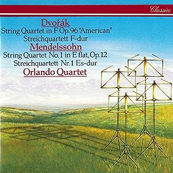 "Dvorák: String Quartet No. 12 ""American"" / Mendelssohn: String Quartet No. 1"
