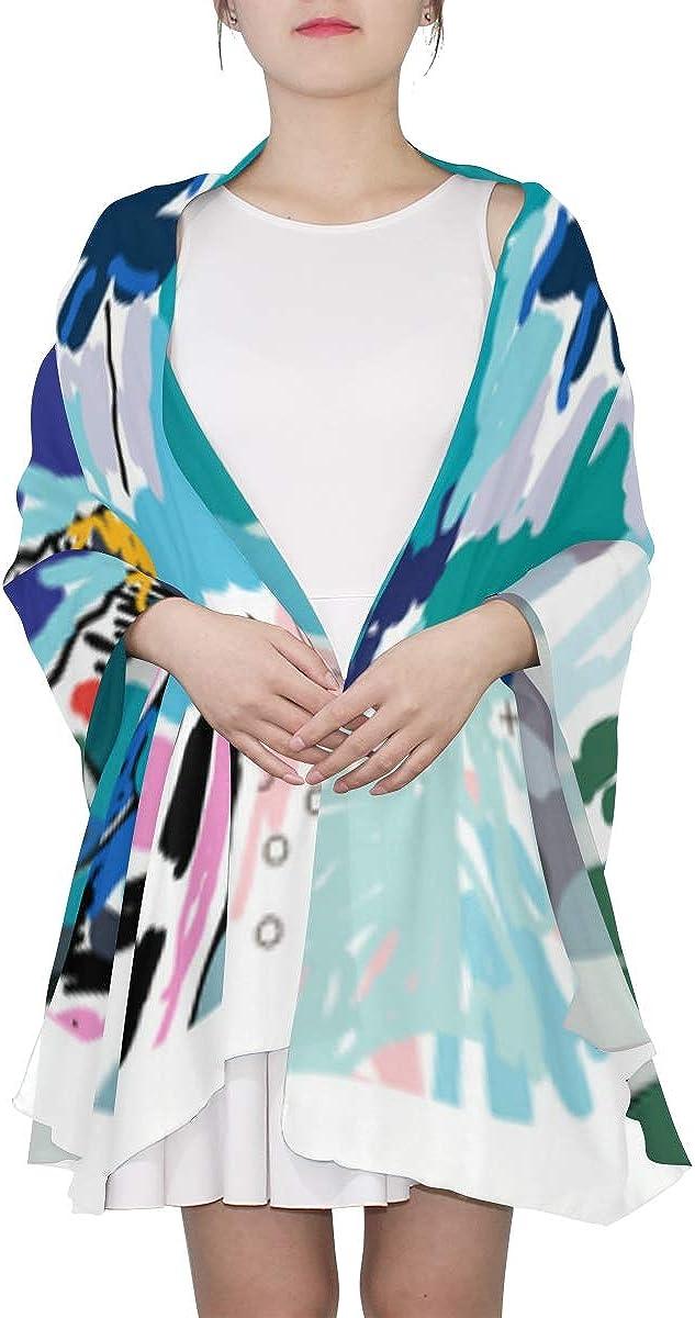 Girls Scarf Art Block Fashion Poster Graffiti Head Scarf For Women Fancy Scarfs For Women Lightweight Print Scarves Colorful Scarf Scarfs Lightweight