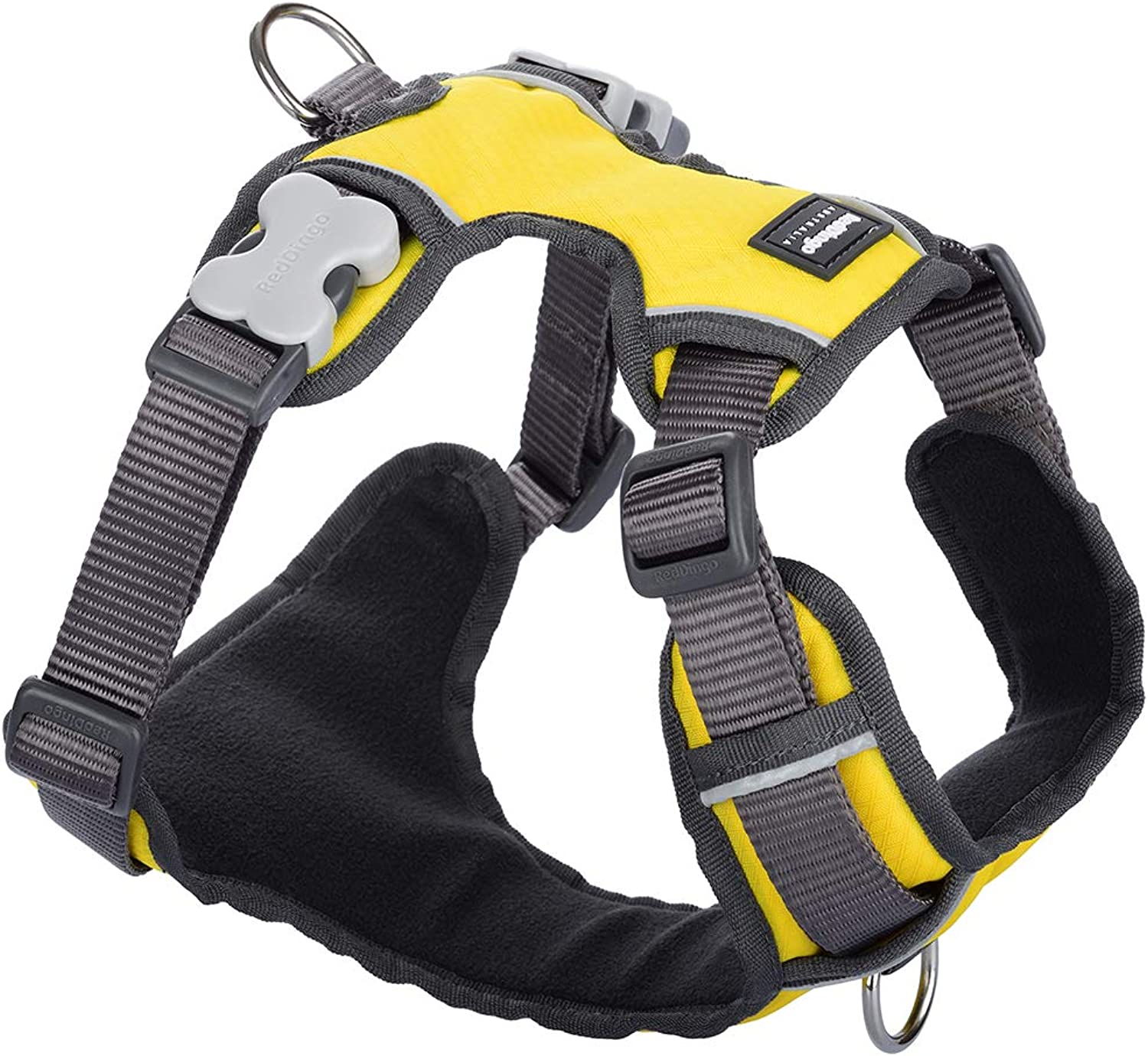 Red Dingo Padded Dog Harness, Xl Large Breeds, Adjustable Fit, Size  Xl Large, Yellow, Xl