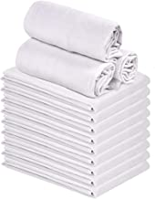 "Talvania Classic White Flour Sack Towels - 12-Pack of 100% Ring Spun Cotton Home Kitchen Dish Towel. Soft Absorbent Dish Towels - Lint Free Measures 28"" X 28"" Tea Towel"