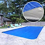 Pool Mate 2040RS-8SB Box Deluxe Solar Cover, 20 x 40-Foot In-Ground, Silver