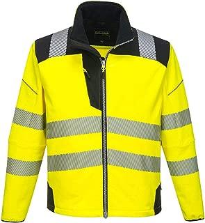 Portwest PW3 Hi-Vis Softshell Jacket Work Safety Protective Reflective Waterproof Coat ANSI 3