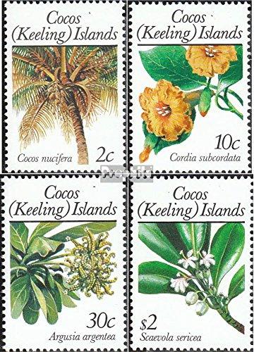 Kokos-Eilanden Mi.-Aantal.: 205-208 (compleet.Kwestie.) 1989 Planten (Postzegels voor verzamelaars) plant