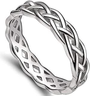Jude Jewelers 4mm Stainless Steel Celtic Knot Eternity Wedding Engagement Band Ring