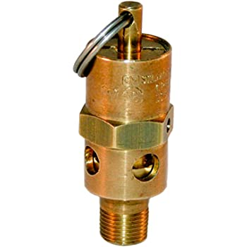 American Made ASME Air Compressor Pop Off Safety Relief Valve 1//8 NPT 110 PSI