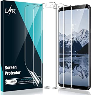 [3 Pack] L K Screen Protector for Samsung Galaxy S9 Plus, [Self Healing] [Full Coverage] [Case Friendly] HD Effect Flexible Film