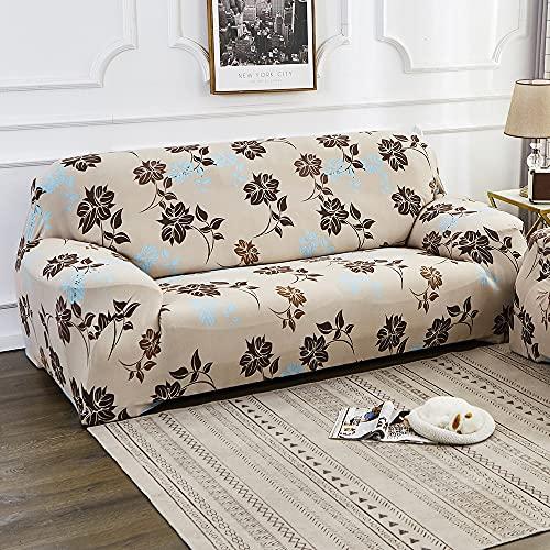 MKQB Funda de sofá de celosía geométrica, Funda de sofá elástica elástica para Sala de Estar, Funda de sofá Lavable Antideslizante con protección para Mascotas n. ° 1 S (90-140cm
