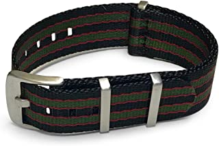 AlphaShark by BluShark - Luxury Seat Belt Nylon Watch Strap - Multiple Sizes and Colors