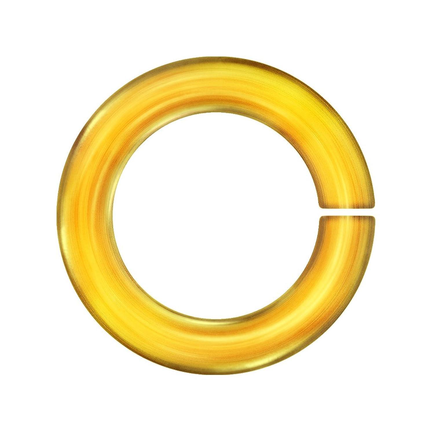 Weave Got Maille 18-Gauge 4.5mm Honey Anodized Aluminum Jump Rings - 100 Pieces