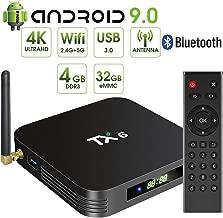Nano Classic TX6 Pro 4GB RAM + 32GB ROM Android 9.0 4K TV Box with LED Display 2.4GHz + 5.8GHz Dual Band WiFi LAN Bluetooth 5.0 KODI …