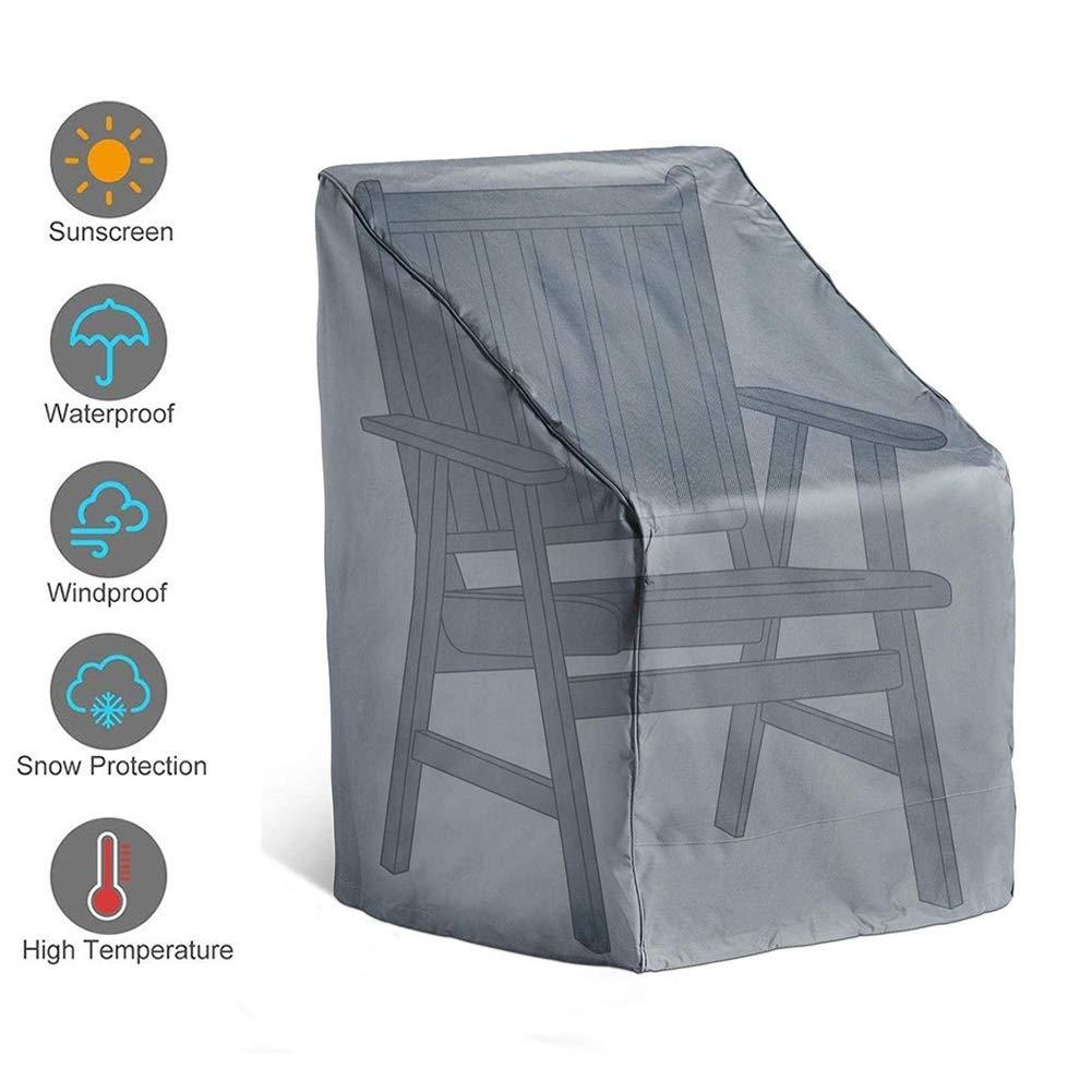 AWSAD Cubierta de La Silla Protector Patio Rota Jardín Funda Muebles Al Aire Libre Impermeable Manteles, 14 Tamaños, Personalizable (Color : Negro, Size : 73x67x84/65CM): Amazon.es: Hogar