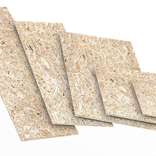 25mm OSB/3 Grobspanplatte Zuschnitt Größe: 900 x 400 mm Holz Platten Feuchtraum-geeignet nach DIN EN 300 Verlegeplatten Holzwerkstoff-Platten Spanplatten Länge bis 2000mm