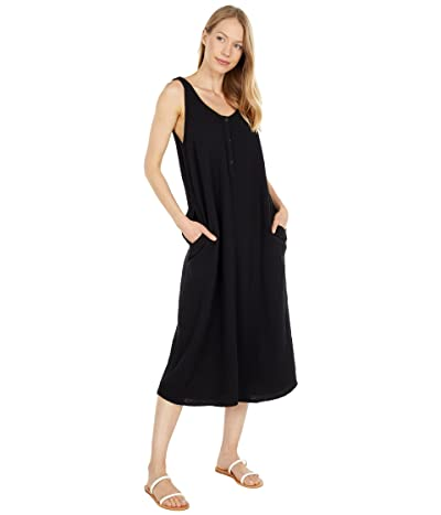 Mod-o-doc Double Layer Gauze Double Scoop Midi Dress