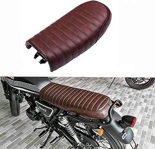 Baohatsu バイク用 カフェレーサー ヴィンテージ シート レザー フラット トラッカーサドル ホンダ Honda CB750 CG125 CB400 CB500モデル対応 ブラウン 送料無料