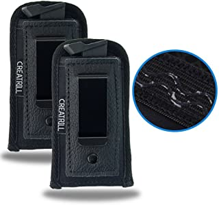 Creatrill 2 PACK Pistol Magazine Holsters | Inside The Waistband IWB Tactical Mag Holder | Concealment Single Double Stack Mag Pouch for 9mm/.40 cal/380