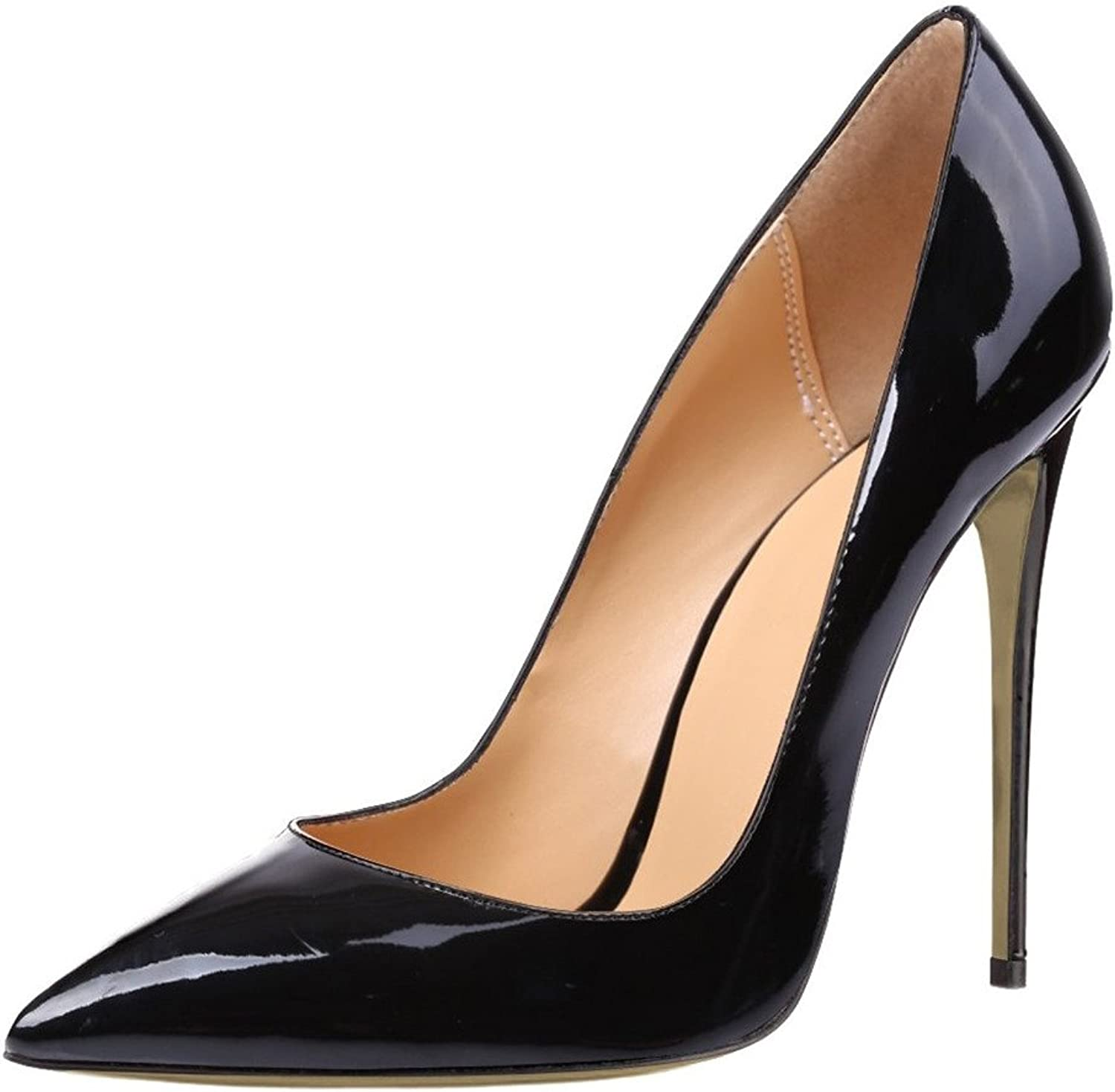 Eldof Women's High heel 12CM Office Pumps Pointed Toe Slip on Heels Classic Pumps