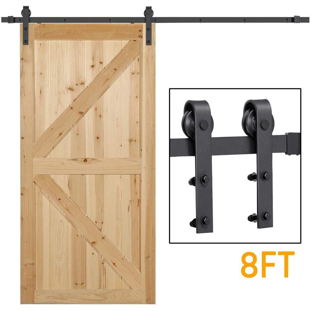 yaheetech puerta corrediza de granero Hardware Kit Set: Amazon.es: Bricolaje y herramientas