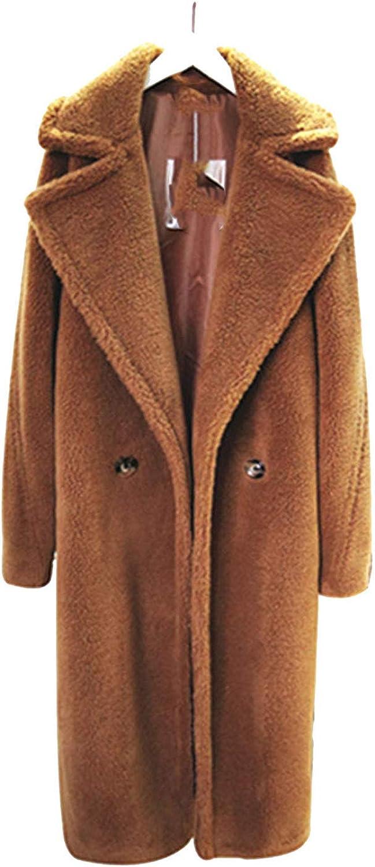 Joyhul outerwearjackets Coats Women High Street Oversized Teddy Jacket and Coat