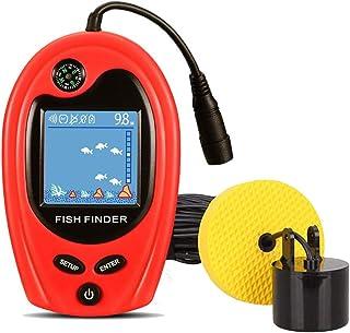 Luckylaker 魚群探知機 ポータブル 魚探 バス釣り ワカサギ釣り ぎょたん探知機 大漁 釣り 道具