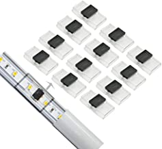 GooChan 2-pin connectors for LED Aluminum Slot line lamp Connector-Ultra-Thin-Ultra-Narrow Connector-no Solder- no Stripping (10MM Strip to Strip Connector)