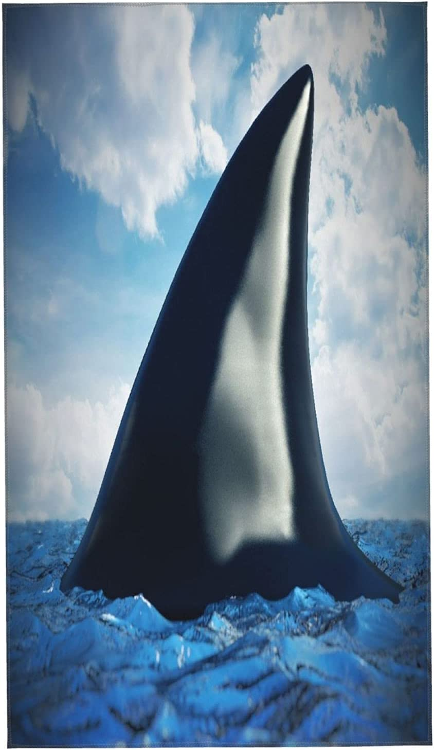 PUNKDBOTTO 2pcs Bath Towels Shark Fin an Max 72% OFF Water Soft 1 year warranty Ultra On The