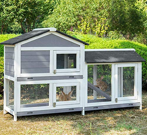Merax Pet Rabbit Hutch Wooden House Chicken Coop for Small Animals