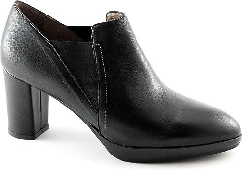 MELLUSO V5604 noir chaussures femme dcollet peau peau élastique pointe verticale  sortie