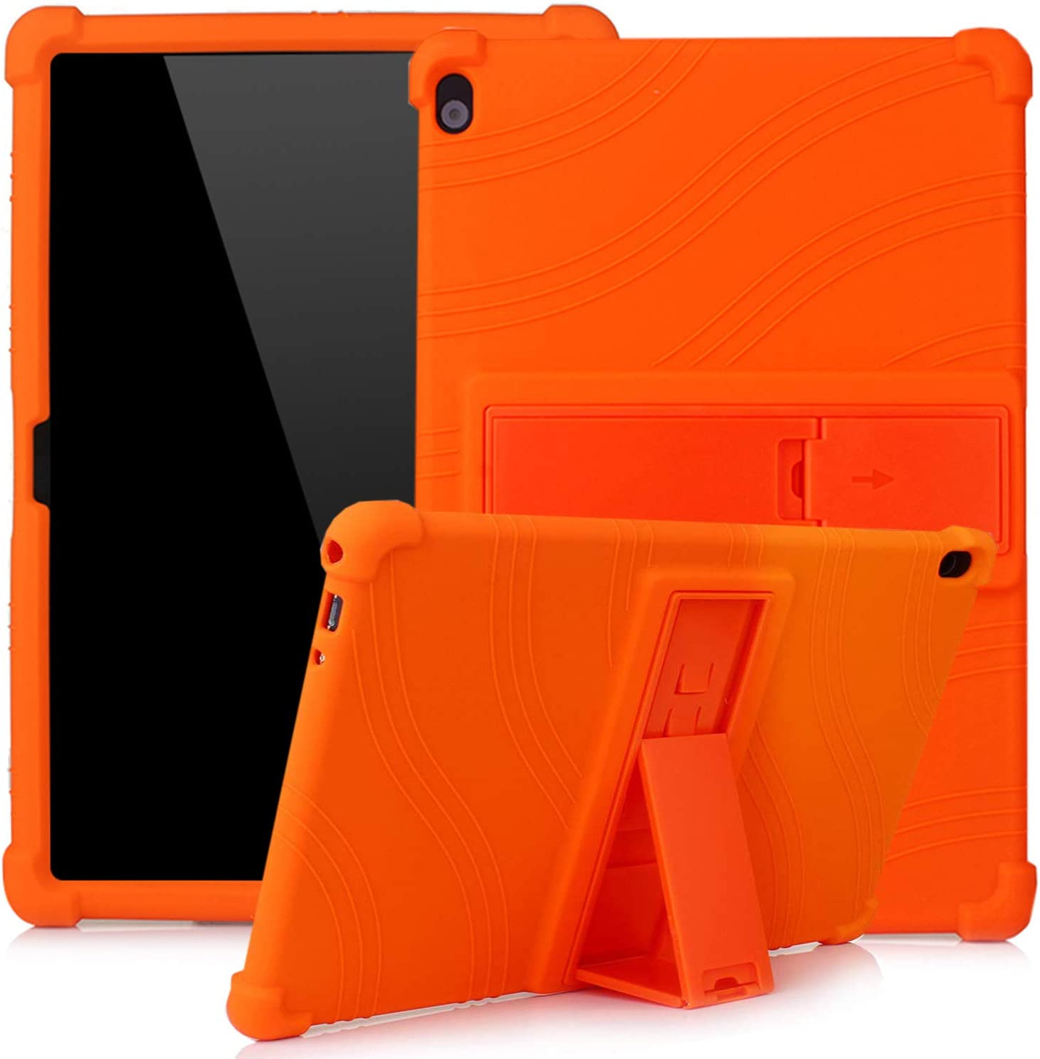 Lenovo Tab M10 TB-X505F TB-X605F TB-X705F 10.1-inch Blue ATOOZ PC Holder Tablet Silicone Case All-inclusive Anti-drop For Lenovo Tab M10 Case