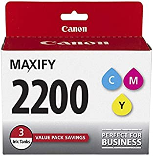 Canon PGI-2200 3Color Three Color Ink Pack, Compatible to MB5420,MB5320,MB5120,MB5020,iB4120 and iB4020