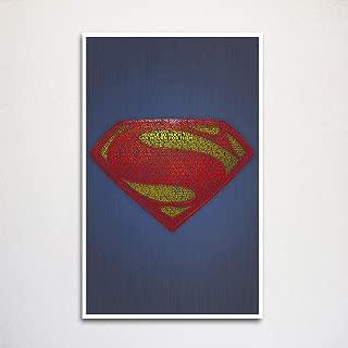 Superman word art 11x17