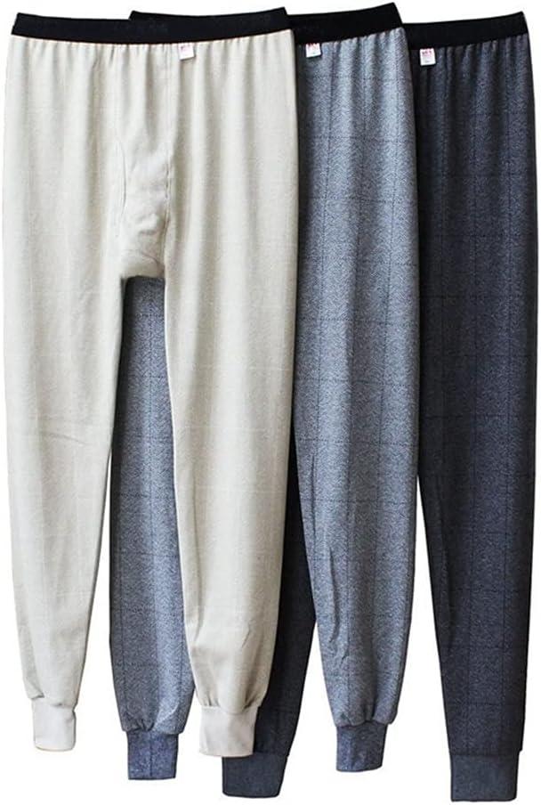 GPPZM Cotton Thermal Underwear Men Long Johns Winter Warm Sleep Bottoms Mens Tight Long Johns for Underpants Random Color (Color : Random, Size : XXL Code)