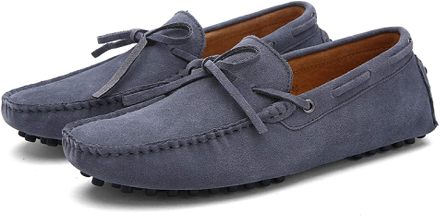 Mao YiE Summer Spring Men Driving shoes Loafers Leather Boat Flats Loafers