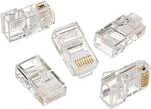 Electrónica Rey 6x Conector Ethernet RJ45 de Red CAT5 y CAT5E, Clavija para Crimpar